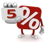 Даем СКИДКУ 5% от ЦЕНЫ КОНКУРЕНТА на светодиодные светильники!